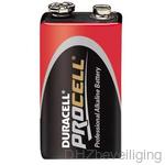 Alkaline batterij Duracell Procel 9V blok