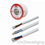 Soepele alarm kabel 4x0,22 op haspel 100 meter